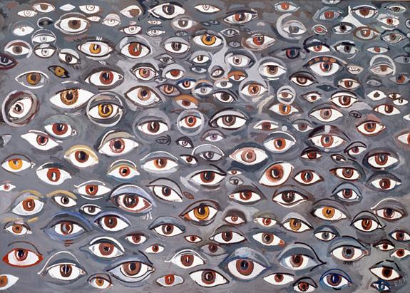 Brazowe oczy,1998,olej,plotno,150x210cm